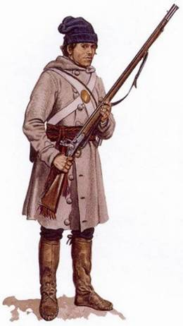 Description: Militiaman, Lower Canada Sedentary Militia, 1813