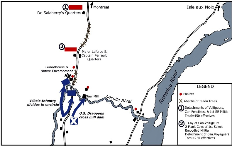 The First American Invasion Of Quebec In The War Of By Robert - Map of us during war of 1812
